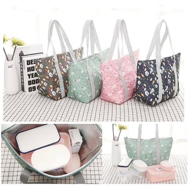 【TD】韓版 旅行可折疊保溫保鮮包 野餐袋 媽咪包 便當包