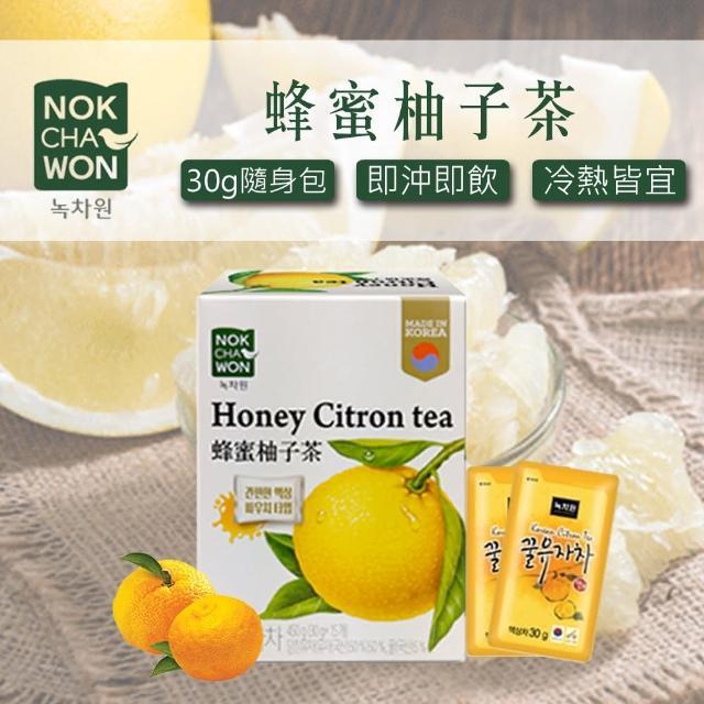 【NOKCHAWON】綠茶園 蜂蜜柚子茶 30gx15包(黃金柚子茶)