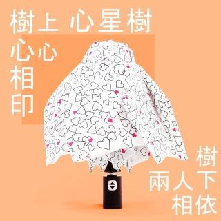 【RainSky】心星樹 - 輕收自動傘_雨傘三折傘防風傘(白)