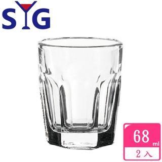 【SYG 台玻】玻璃六角一口小果汁杯68cc(2入組)