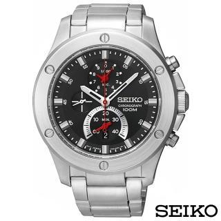 【SEIKO 精工】重磅強悍三眼計時腕錶(SPC095P1)