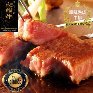 【漢克嚴選】美國產日本級和牛厚切霜降熟成牛排10片組(300g±10%/片  贈北歐青花魚兩片)