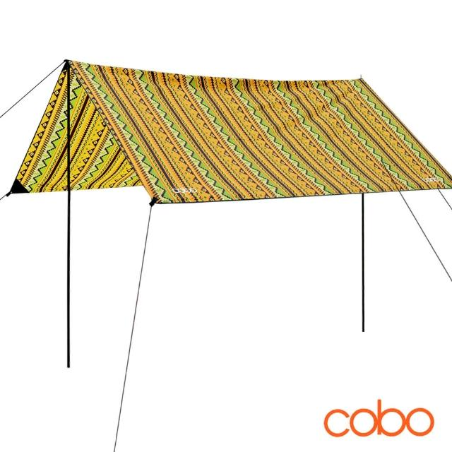 【COBO】印第安圖騰防水輕量天幕帳布 地席 /露營/天幕/帳布/地席