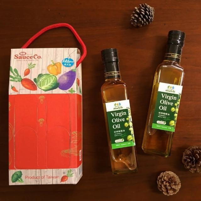 【展康】初榨橄欖油 紅色禮盒(280ml*2罐)