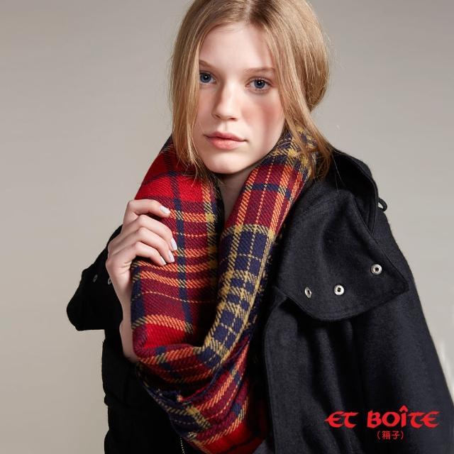 【BLUE WAY】保暖雙面格紋圍巾 - ET BOiTE 箱子