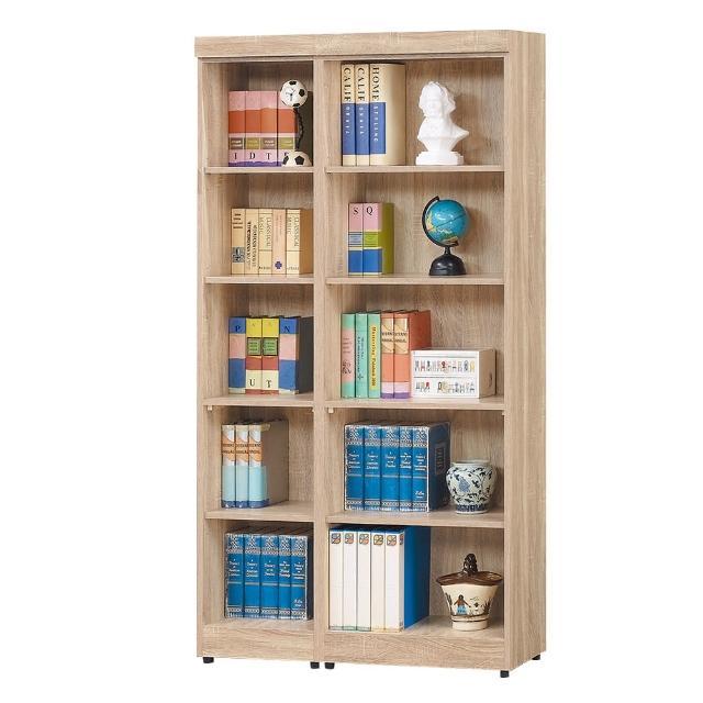 【Bernice】達爾思3.3尺開放式書櫃/收納櫃/展示櫃組合