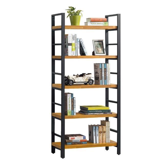 【Bernice】斯克2.7尺工業風開放式五層書櫃/收納櫃/展示櫃