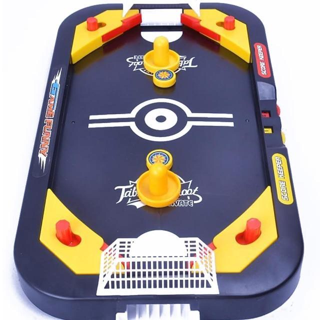 【GCT 玩具嚴選】2IN1冰球台桌遊(互動迷你桌上 曲棍球 足球)
