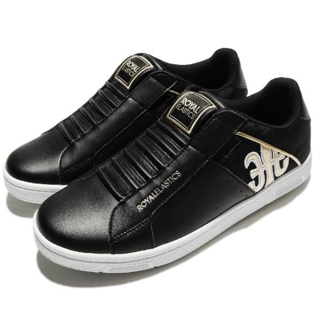 【ROYAL Elastics】休闲鞋 Icon Alpha 懒人鞋 男鞋 低筒 运动 经典 穿搭推荐 透气 男 黑 金(02081993)