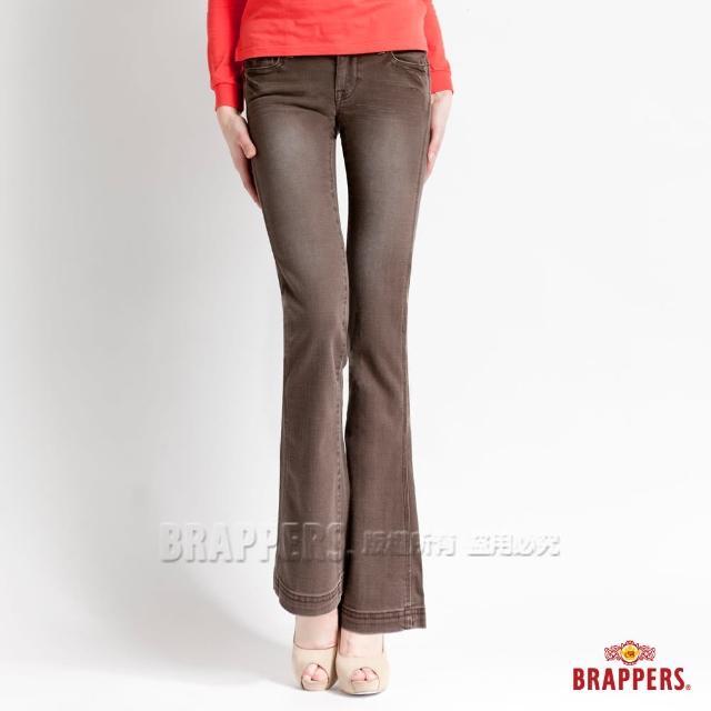 【BRAPPERS】女款 新美腳l系列-彈性小喇叭褲(咖啡)