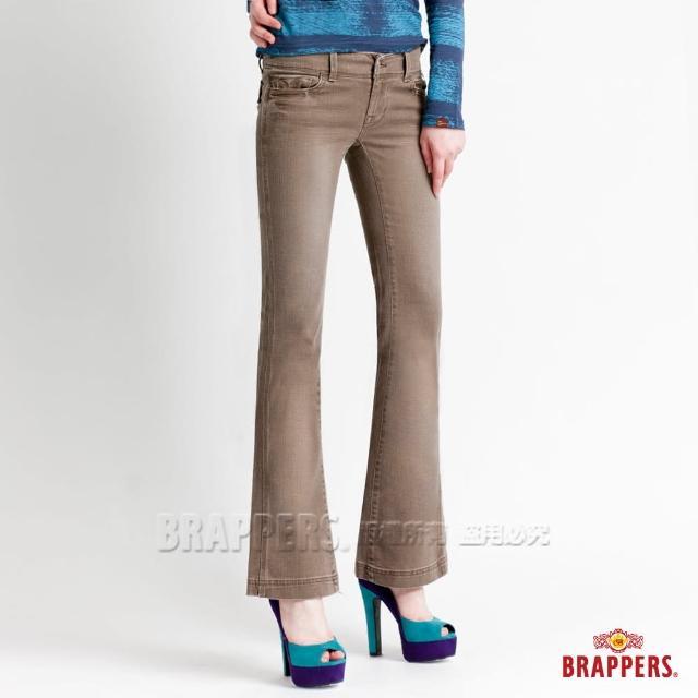 【BRAPPERS】女款 新美腳l系列-彈性小喇叭褲(淺咖啡)