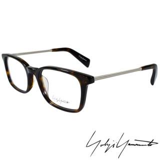 【Y-3山本耀司】Yohji Yamamoto時尚方框金屬混搭造型光學眼鏡(琥珀 YY1007-127)