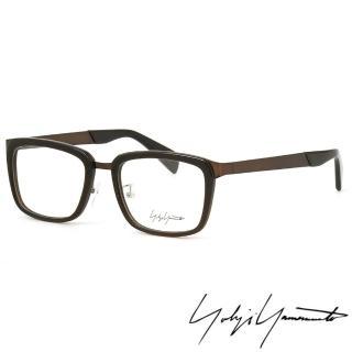 【Y-3山本耀司】Yohji Yamamoto方型時尚前衛光學眼鏡(黑銅-YY1021-108 12HR)