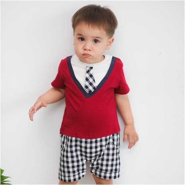 【Baby童衣】連身衣 假兩件格紋學院風 42178(共1色)