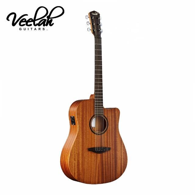 【VEELAH】V1-DMCE 電民謠木吉他 桃花心木款(原廠公司貨 商品品質有保障)