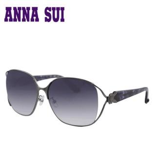【ANNA SUI 安娜蘇】日本安娜蘇花園系列太陽眼鏡(AS880-986-黑紫色 12HR)