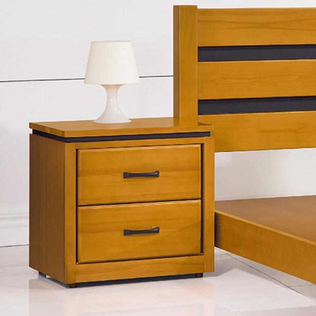【Bernice】柏克1.7尺實木床頭櫃