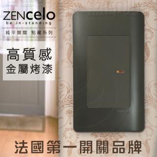 【SCHNEIDER】法國Schneider ZENcelo系列 單切三路純平開關_霧青金屬色