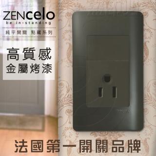 【SCHNEIDER】法國Schneider ZENcelo系列 單插座附接地極_霧青金屬色