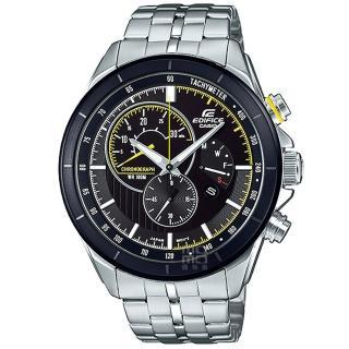 【CASIO 卡西歐】卡西歐 EDIFICE 三眼計時鋼帶錶-黑(EFR-561DB-1A)