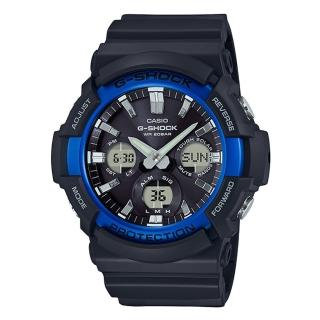 【CASIO 卡西歐】G-SHOCK 太陽能雙顯男錶 樹脂錶帶  防水200米 世界時間(GAS-100B-1A2)