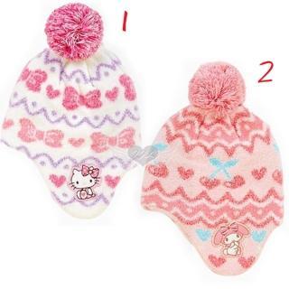【TDL】台灣製HELLO KITTY美樂蒂兒童帽子保暖帽適合頭圍約40-45cm 2選1(10621936)