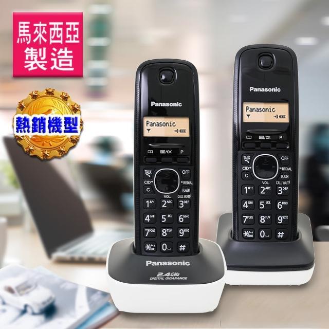 【Panasonic 國際牌】數位高頻雙手機無線電話(KX-TG3412典雅白)