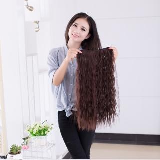 【狐狸姬】髮片一片無痕接髮片造型假髮髮片(玉米捲)