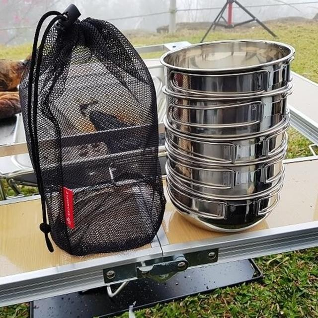 【May Shop】不锈钢折叠碗 组合式(四入附收纳袋)