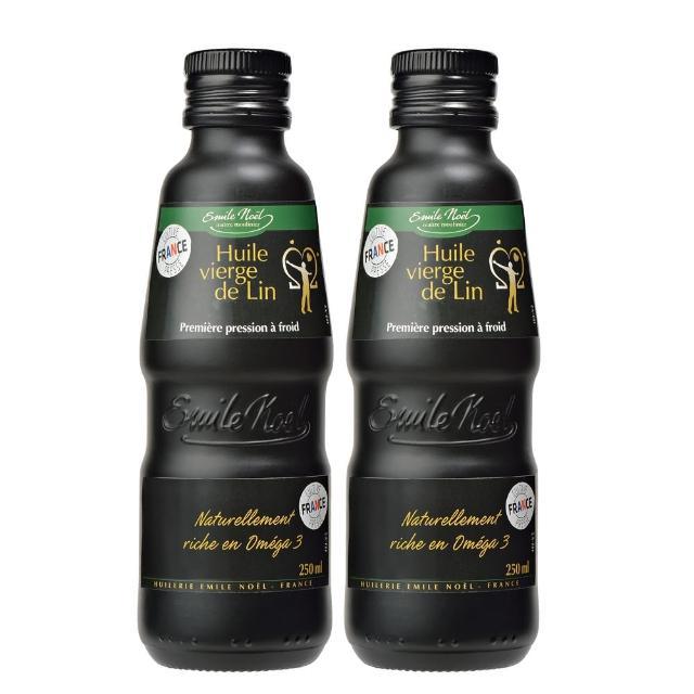 【艾米爾諾耶】冷壓初榨亞麻仁油2入組(250ml/瓶)