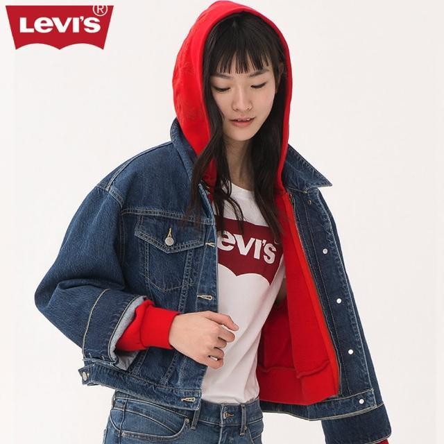 【LEVIS】牛仔外套 女裝 / 兩件組 / 連帽外套和牛仔外套可獨立穿