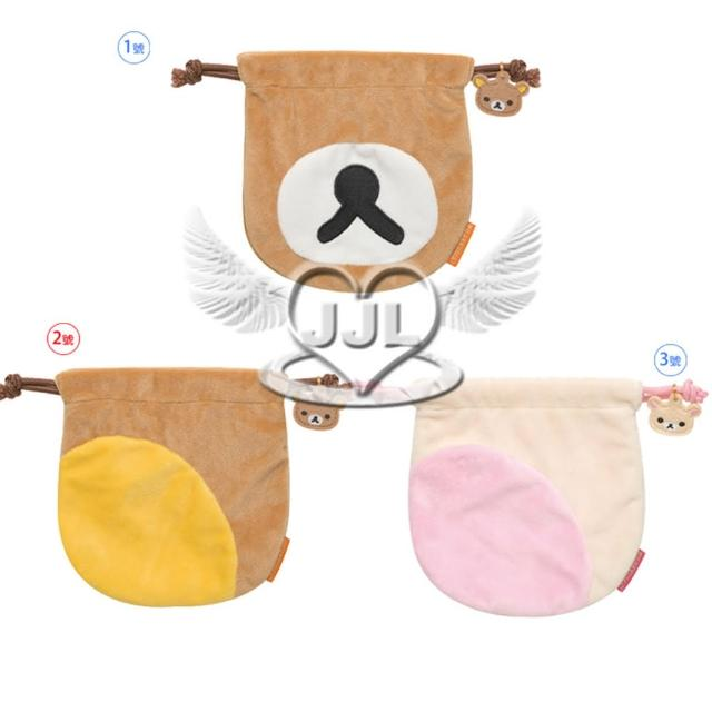 【TDL】拉拉熊懶懶熊懶妹絨毛束口袋收納袋部位表情系列14.5x15cm 3選1(13624282)