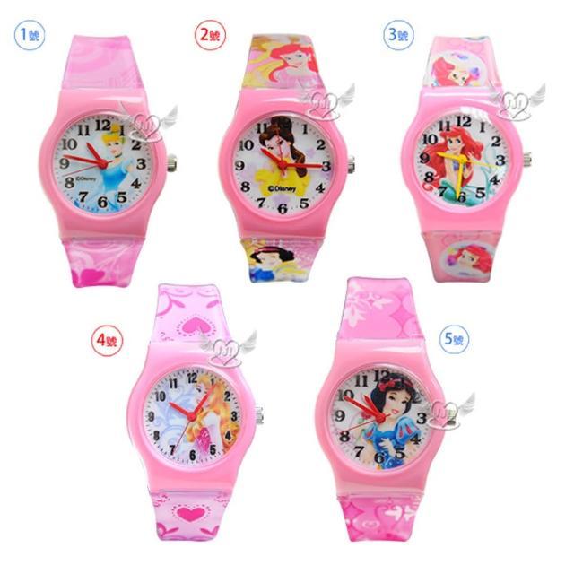 【TDL】迪士尼公主灰姑娘美女與野獸貝兒小美人魚睡美人白雪公主兒童錶手錶(5選1 67783773)