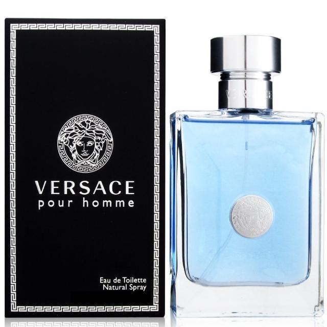 【VERSACE 凡賽斯】經典男性淡香水50ml(贈隨機針管香水一份)