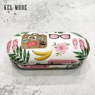 【KEL MODE】眼鏡配件-兩用雙層眼鏡盒/太陽眼鏡盒/眼鏡收納盒(熱帶叢林)