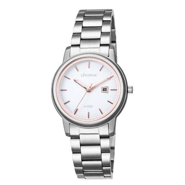 【LICORNE】力抗 品味時光都會手錶(白玫瑰金/銀 LT120LWWI-R)
