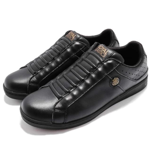 【ROYAL Elastics】休闲鞋 Duke II 复古 男鞋 运动低筒 懒人鞋 经典流行 轻量透气 黑 金(05374999)