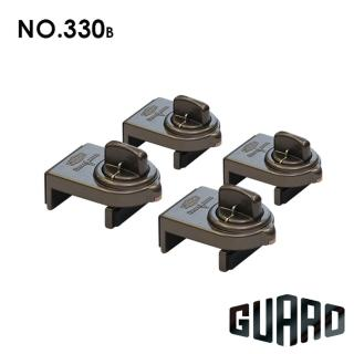 【GUARD】確保型門窗輔助安全鎖(#330B 棕色4入)