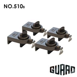 【GUARD】雙重保險門窗輔助安全鎖(#510B 棕色4入)