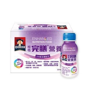 【QUAKER 桂格】完膳營養素100鉻含纖配方237ml×24瓶/箱