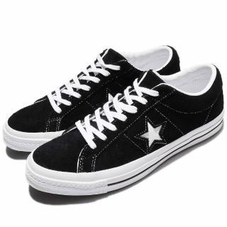 【CONVERSE】休閒鞋 One Star 女鞋 男鞋 復古 麂皮 滑板 低筒 一顆星 情侶鞋 黑 白(158369C)