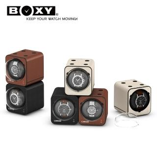 【BOXY 自動錶上鍊盒】Fancy Brick 皮革款-不含變壓器(自由堆疊專利 動力儲存盒 機械錶專用 WATCH WINDER)