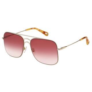 【Chloe' 蔻依】金屬大框 太陽眼鏡 CE140S(淡金+粉色)