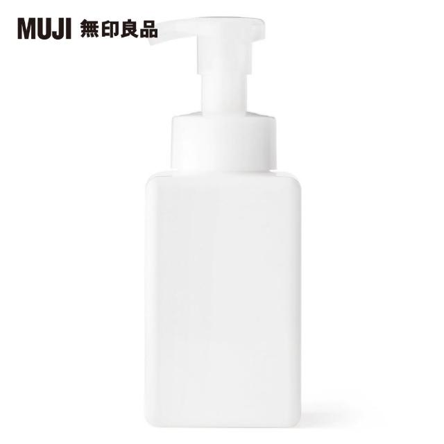 【MUJI 無印良品】PET慕斯瓶/白.400ML