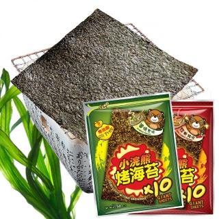 【小浣熊】零油脂烤海苔5gx10片/包_口味任選(原味/辣味)
