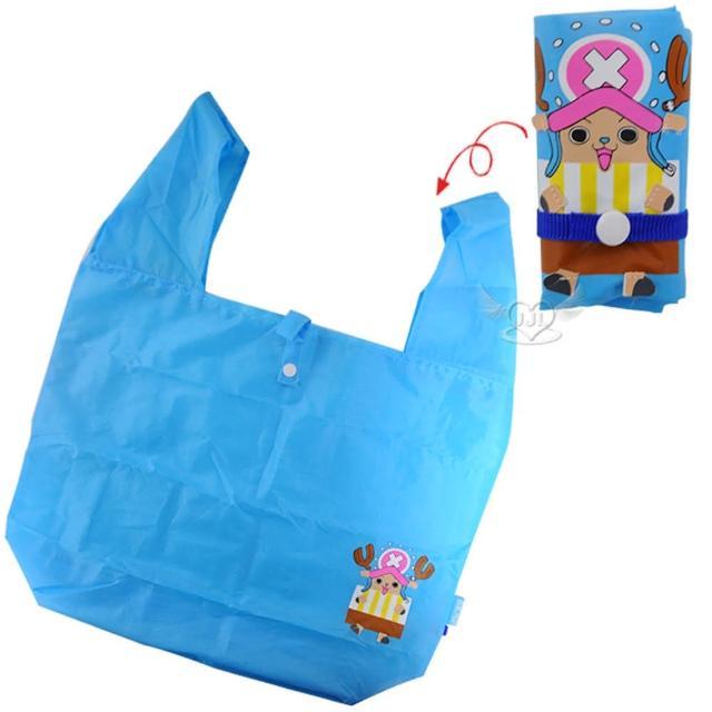【TDL】航海王海賊王喬巴購物袋折疊式隨身攜帶手提袋 348727