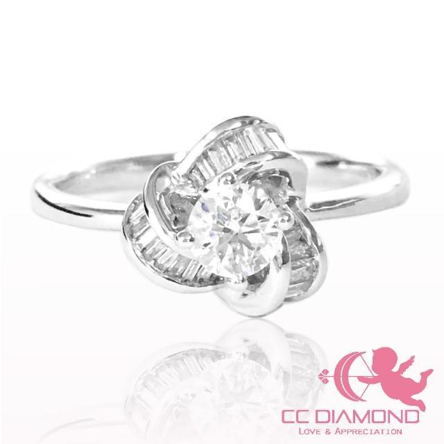 【CC Diamond】T鑽圍花0.30克拉鑽戒(流行單品 鑽戒 婚戒)