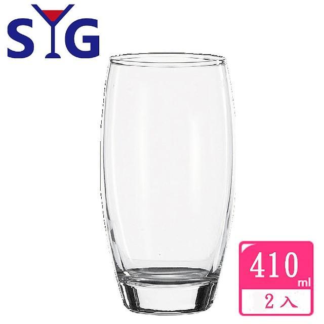 【SYG 台玻】玻璃果汁圓杯410cc(2入組)
