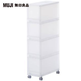 【MUJI 無印良品】PP附輪收納箱/4層