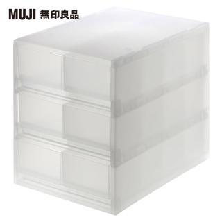 【MUJI 無印良品】PP盒/ 淺型/ 6格/ 附隔板/ 正反疊/